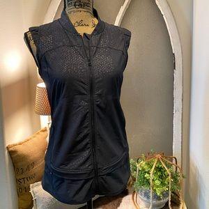 Lululemon Black Reptile Design Zippered Vest